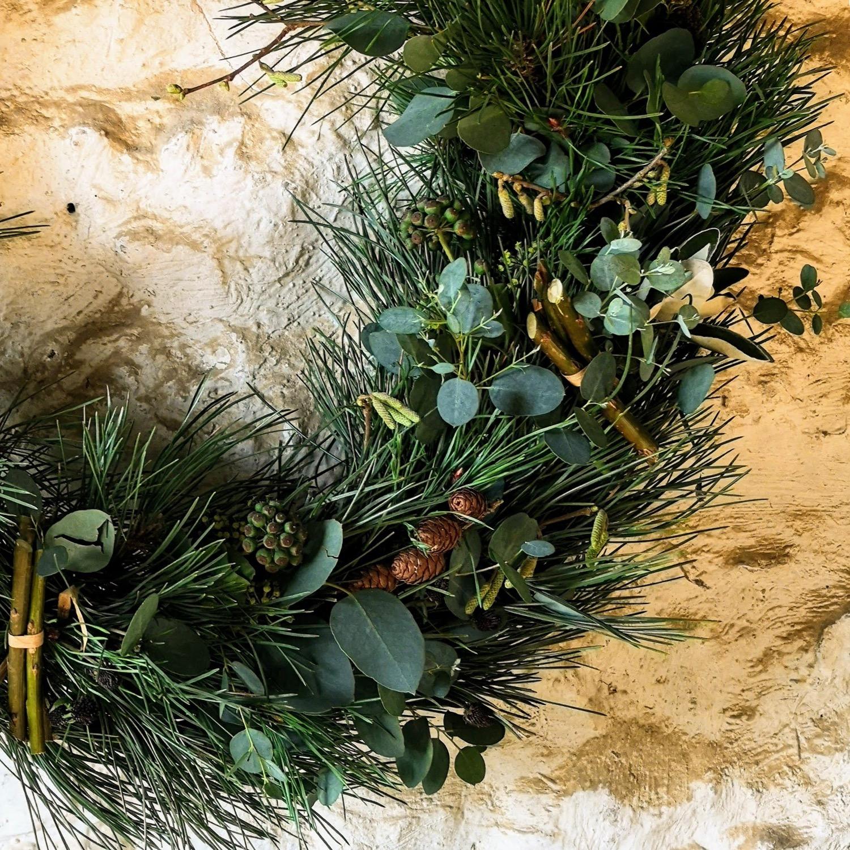 Pine Eucalyptus Christmas Wreath Roves Farm
